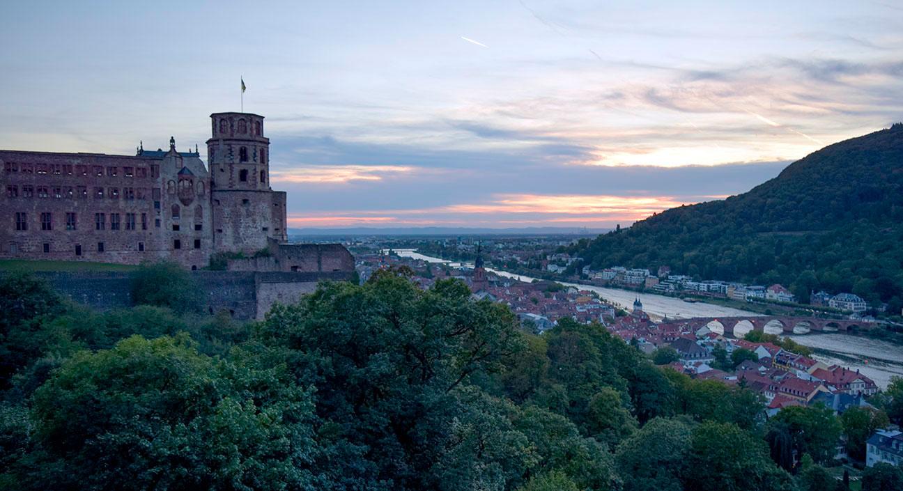 Heidelberg sunset Photograph by David Hill taken 26 August 2015, 18.20 GMT