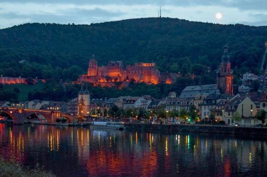 Heidelberg Moonrise Photograph by David Hill taken 27 August 2015, 17.20 GMT