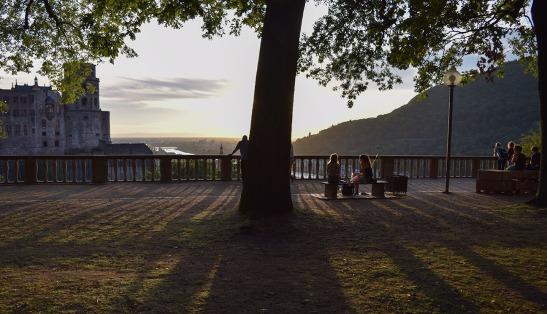 Heidelberg: Sundowners on the Garden Terrace Photograph by David Hill taken 26 August 2015, 17.45 GMT