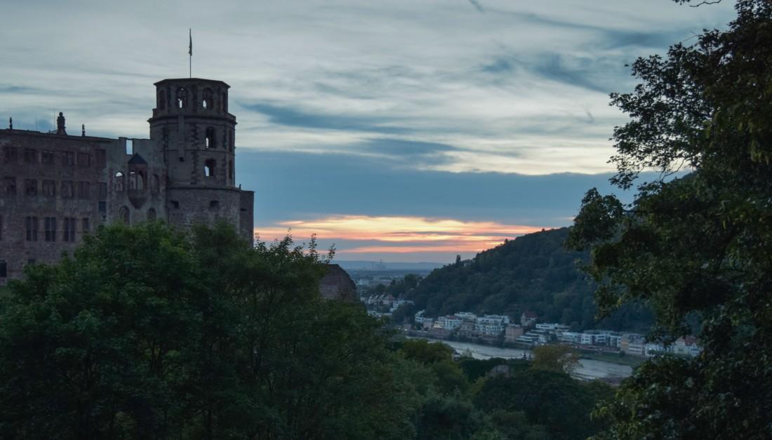 Heidelberg sunset: Last gleam Photograph by David Hill, taken 26 August 2015, 18.24 GMT
