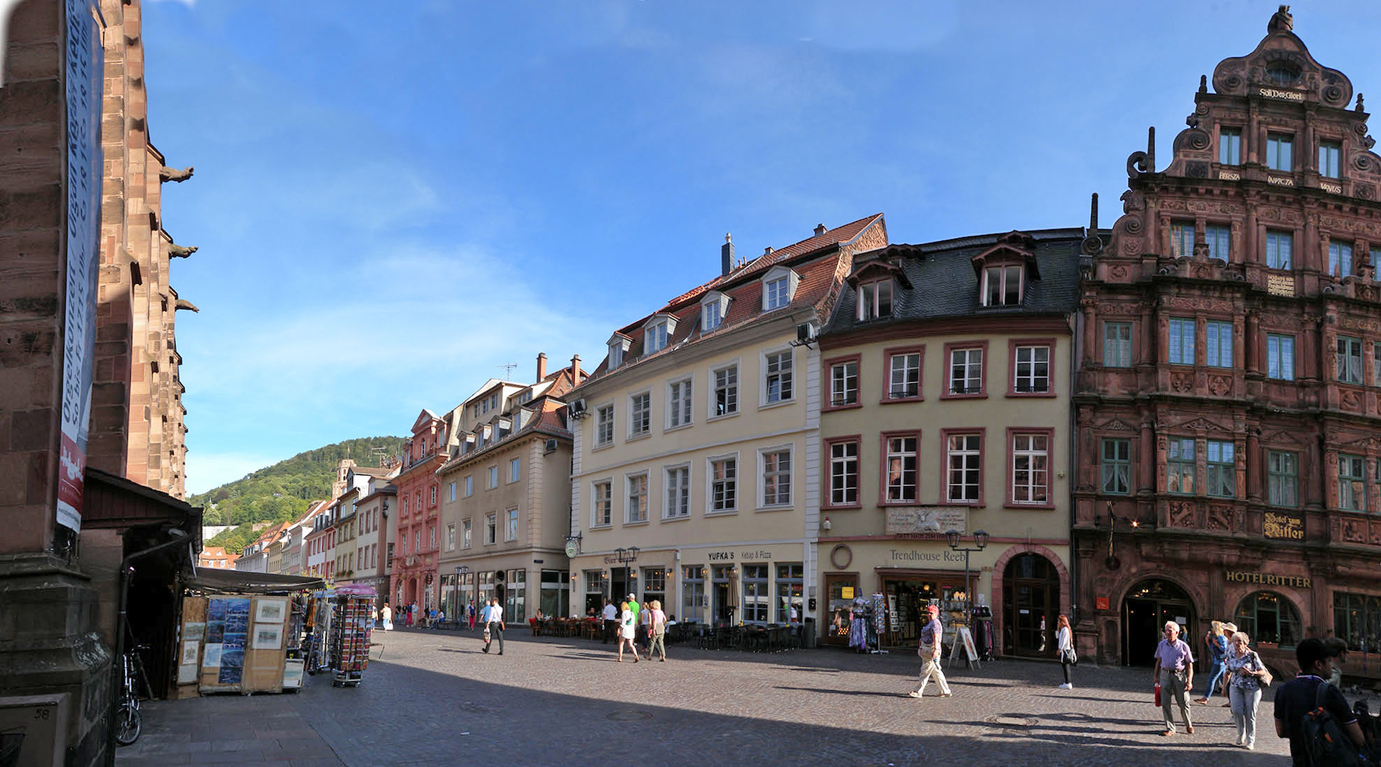 The Hauptstrasse, Heiidelberg Photograph by David Hill, taken 26 August 2015, 15.27, GMT