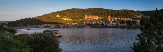 Heidelberg Bridge, Castle and Church Photograph by David Hill, 25 August 2015, 17.56 GMT