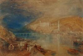 J M W Turner Heidelberg: Sunset, c.1842 Watercolour, 380 x 552 mm, 14 1/2 x 21 1/8 ins Manchester, City Art Gallery (1917.106) This watercolour seems to have been painted as a pair to that made for Thomas Abel Prior. Photo courtesy of Manchester City Art Gallery To view this image on Manchester City Art Gallery's website click on the following link and use your browser's 'back' button to return to this page. http://manchesterartgallery.org/collections/search/collection/?id=1917.106