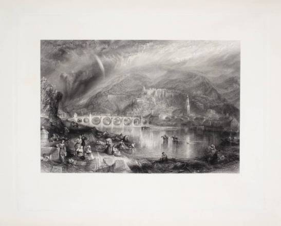 Thomas Abel Prior, after J.M.W.Turner Heidelberg from the opposite bank of the Neckar, published 1846 Line Engraving on Steel, printed on etching paper, image size 370 x 543 mm, 14 9/16 x 21 ¼ ins Tate T05190 Photo courtesy of Tate To view this image in Tate's own catalogue of the Turner bequest, click on the following link, and use your browser's 'back' button to return to this page. http://www.tate.org.uk/art/artworks/turner-heidelberg-from-the-opposite-bank-of-the-neckar-engraved-by-thomas-abel-prior-t05190