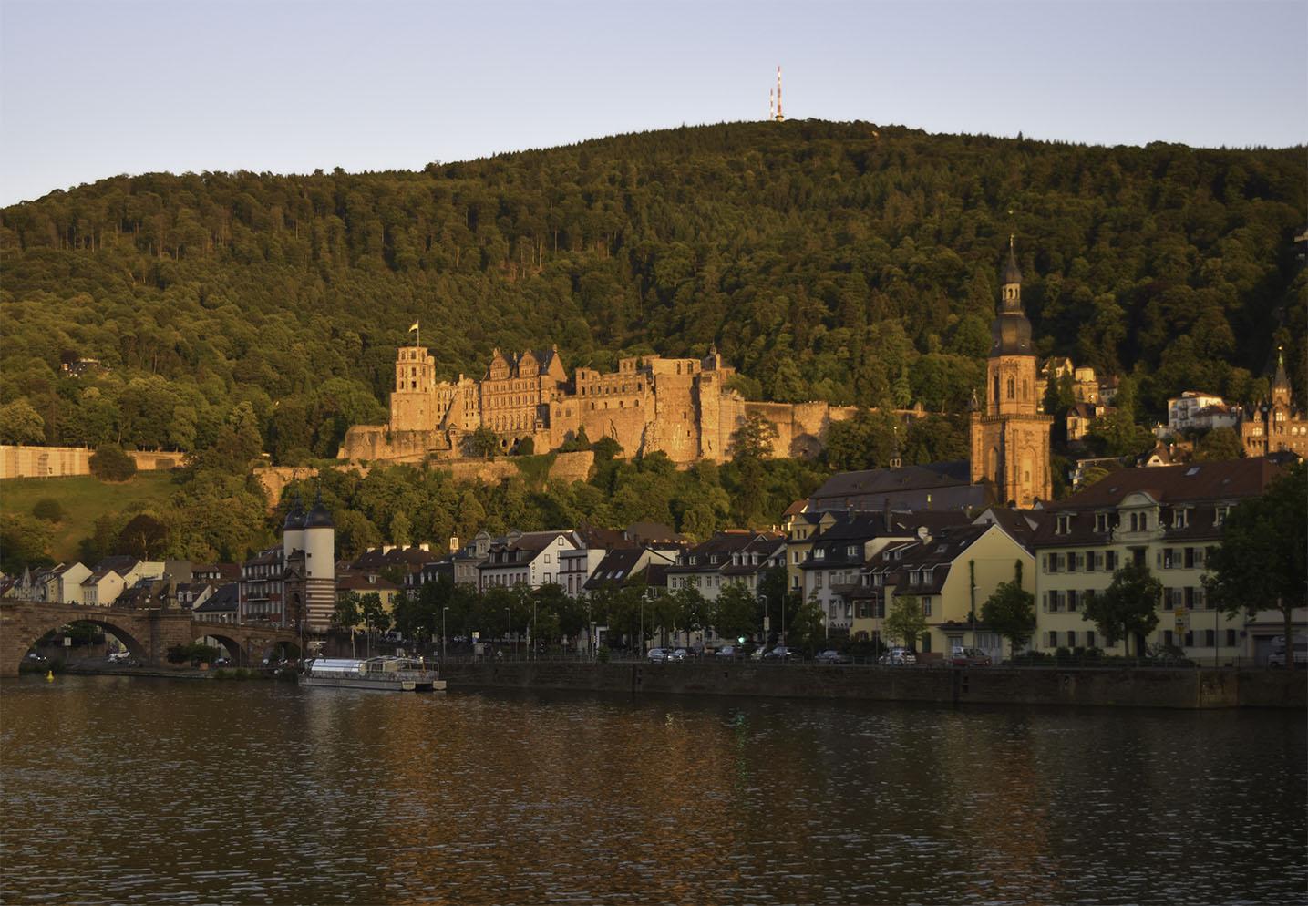 Heidelberg Bridge, Castle and Church Photograph by David Hill taken 25 August 2015, 17 58 GMT