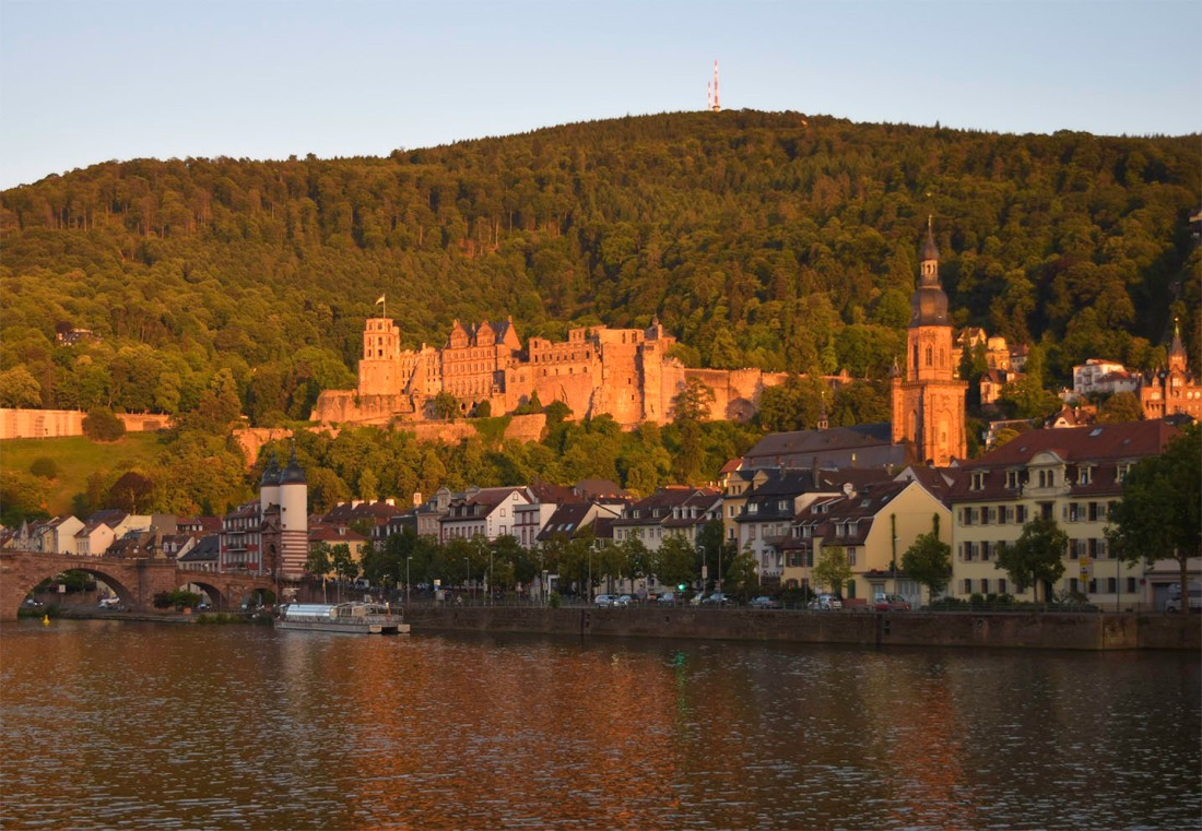 Heidelberg Bridge, Castle and Church Photograph by David Hill taken 25 August 2015, 17 58 GMT