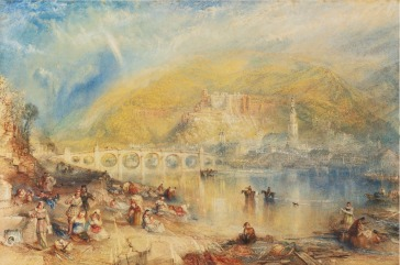 J M W Turner Heidelberg with a Rainbow, c.1842 Watercolour, 311 x 521 mm, 12 1/4 x 20 1/2 ins USA, Minnesota Marine Art Museum, Winona, Minnesota. This watercolour was commissioned from Turner in 1840 by the engraver Thomas Abel Prior. He published a large engraving of the image in 1846. The watercolour fetched a world record for a watercolour by the artist at auction when it was sold by Sotheby's, New York, 31 January 2013 lot 101 for $4,562,500. Photo courtesy of Sotheby's. To view this image on Sotheby's website click on the following link and use your browser's 'back' button to return to this page.