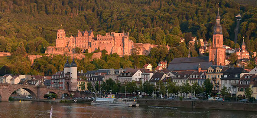 Heidelberg bridge and Heiliggeistkirche Photograph taken by David Hill 25 August 2015, 19.02 GMT