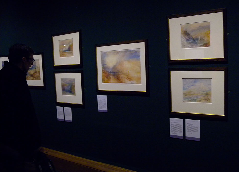 Turner's 'Heidelberg' exhibited at the National Gallery of Scotland, Edinburgh, January 2016. Photograph by David Hill, Taken 17 January 2016, 15.40 GMT