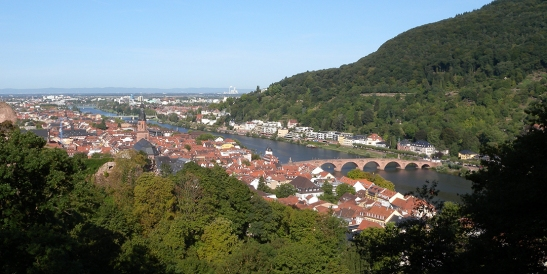 Heidelberg Town, Bridge and River from the Garden Terrace Photograph by David Hill, taken 26 August, 2015, 07.46 GMT It is hard to relate anything in Turner's painting to this.