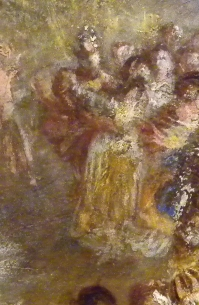 J M W Turner A Castle in an Alpine Valley, called 'Heidelberg', c.1842, detail of couples #1 Oil on canvas, 52 × 79 ½ ins (132 × 201 cms) Tate, London, N00518 Photograph by David Hill, courtesy of Tate