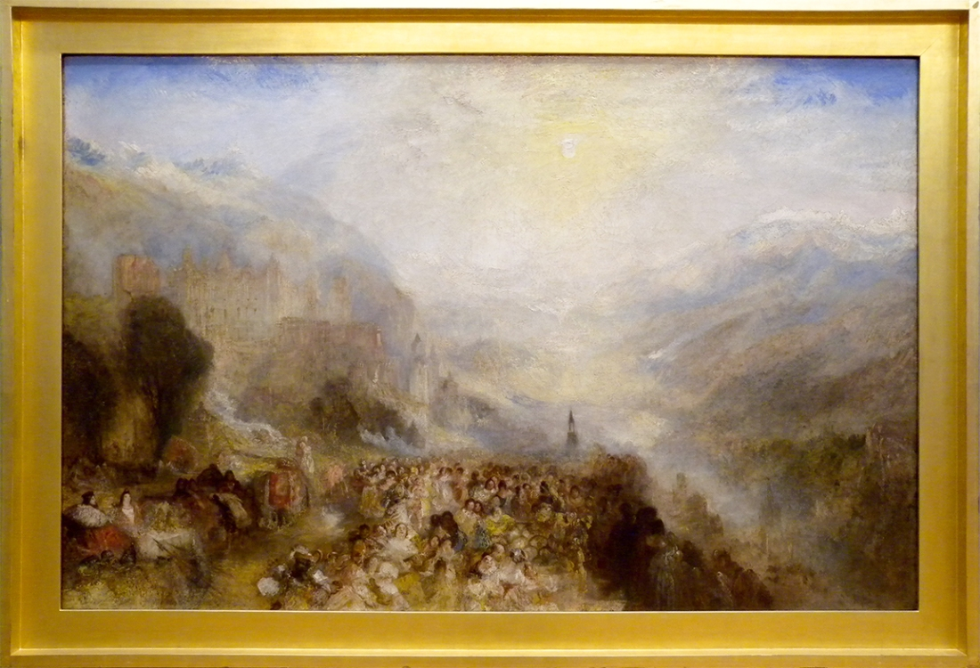 J M W Turner A Castle in an Alpine Valley, called 'Heidelberg', c.1842 Oil on canvas, 52 × 79 ½ ins (132 × 201 cms) Tate, London, N00518 Photograph by David Hill, courtesy of Tate In what follows, I question the long-established identification of the painting as 'Heidelberg', (sometimes 'Heidelberg in the Olden Time') and propose an earlier date than the current consensus of 1844-5. To view this image in Tate's own catalogue of the Turner bequest, click on the following link, and use your browser's 'back' button to return to this page. http://www.tate.org.uk/art/artworks/turner-heidelberg-n00518