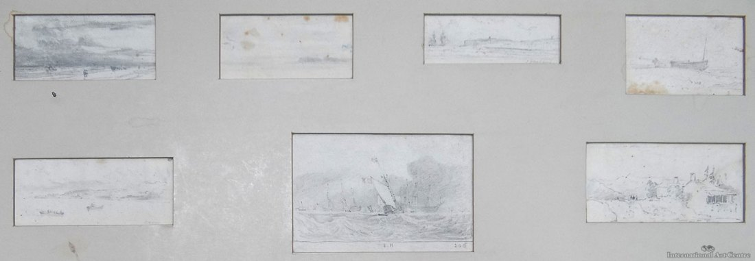 International Art Centre, 272 Parnell Road, Auckland, New Zealand, Collectable Art, 23 February, 2016, lot 147: John Sell Cotman 1782 - 1842 - Seven drawings - Coastal Scenes, Pencil on paper 3.0 x 9.0, Signed & dated (date illegible), repr, est. $NZ 500 - 1,000, sold for NZ$700; Image courtesy of International Art Centre To see the picture and cataloguing in the IAC's own website, click on the following link, and then use your browser's 'back' button to return to this site. http://www.internationalartcentre.co.nz/auctions/auctionDetail.lsd?a=201602&p=147