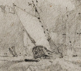 Van Tromp's Barge in Cotman sketch