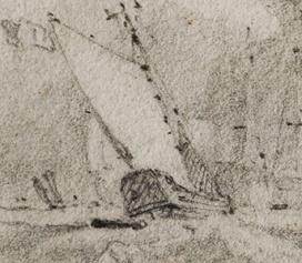 Van Tromp's Barge in Cotman sketch