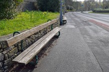 Serpent benches at Kirkby Lonsdale Photograph by David Hill, taken 21 March 2016, 17.04 GMT Both benches survive, although in their new position they command a rather less magnificent prospect.