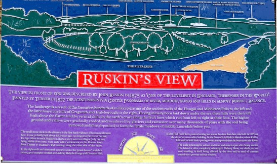 Signboard at Ruskin's View Photograph by David Hill, taken 25 March 2016, 11.05 GMT