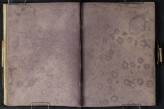 J M W Turner Rain-spattered pages, 1801 Pencil on paper, 149 x 218 mm (page size, 149 x 109 mm) from the 'Tummel Bridge' sketchbook, Tate, London, D03332-33, Turner Bequest TB LVII 28a-29 as 'A Mountain Ridge with Trees in the Foreground' Image courtesy of Tate. To see the image in the Tate's own online catalogue, click on the following link, and then use your browser's 'back' button to return to this page: http://www.tate.org.uk/art/artworks/turner-a-mountain-ridge-with-trees-in-the-foreground-d03333 Turner prepared many of the pages of the Tummel Bridge sketchbook with a wash of purple-grey. This sort of preparation was useful for reducing glare when sketching on the Roman Campagna, but was perhaps less unnecessary in Scotland. It has the unfortunate result of making his drawings almost invisible in photographs, but the unintended consequence of permanently recording the day's weather conditions.