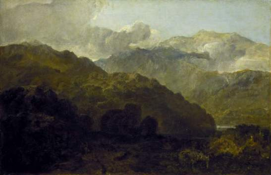 J.M.W.Turner  Ben Lomond Mountains, Scotland: The Traveller – Vide Ossian's War of Caros. Exhibited Royal Academy, 1802 Oil on canvas 641 x 988 mm The Fitzwilliam Museum, Cambridge Image courtesy of the Fitzwilliam Museum, Cambridge. To see the image in the Fitzwilliam Museum's own online catalogue, click on the following link, and then use your browser's 'back' button to return to this page: http://webapps.fitzmuseum.cam.ac.uk/explorer/index.php?oid=3996