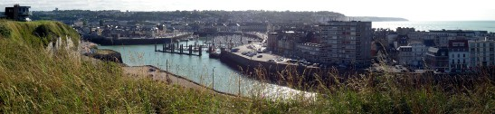 Dieppe Harbour and Town Photograph taken by David Hill, 31 August 2012, 15.27 GMT (17.27, local) Best viewed full size. Click on the image to view at full size.