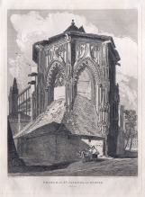 John Sell Cotman (1782-1842) East End of the Church of St Jacques at Dieppe, 1822 Etching on thick wove paper, image 290 x 227 mm, on plate 332 x 242 mm Drawn, etched and editioned 1 April 1820 by John Sell Cotman as plate 36 of his Architectural Antiquities of Normandy, published 1822; Leeds Art Gallery, LEEAG.1949.0009.0748 Cotman sketched this subject on 23 June 1817. It is a rather obtuse representation of the church, but such approaches were typical of him. He did, however, also draw it from a more familiar angle (see below). Photo courtesy of Leeds Art Gallery