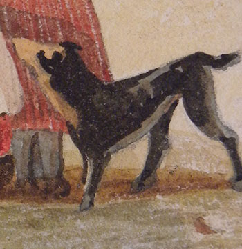 John Sell Cotman Dieppe, from the Heights Detail of dog: Smith version
