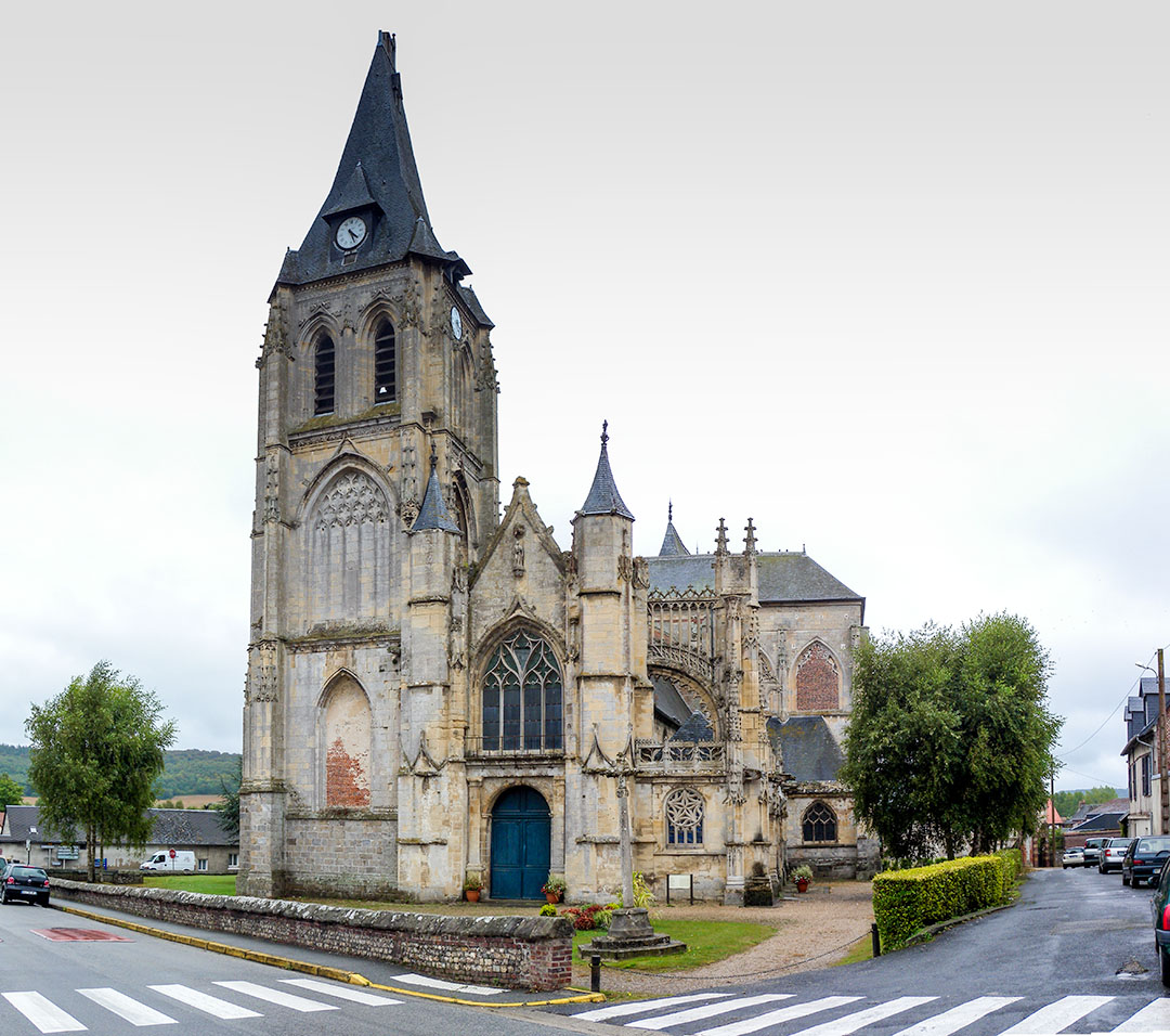 Church of Arques la Bataille Photograph by David Hill, taken 5 September 2016, 14.25 GMT