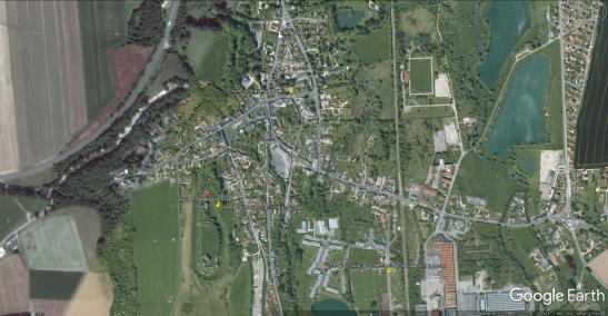 Google Earth map of Arques la Bataille area