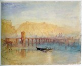 J.M.W.Turner The Mosel Bridge at Coblenz: Sample Study, c.1841-2 Watercolour on paper, 236 x 295 mm Tate, London, Turner Bequest, TB CCCLXIV 286, D36139 Image courtesy of Tate. To see this in the Tate's own website, click on the following link, and then use your browser's 'back' button to return to this page. http://www.tate.org.uk/art/artworks/turner-the-mosel-bridge-at-coblenz-sample-study-d36139