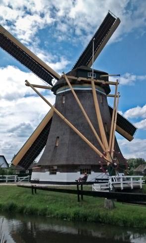 Dutch smock mill on the river Vecht at Maarssen, near Utrecht Photograph by David Hill taken 22 July 2015, 12.55 GMT