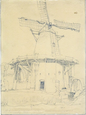 John Sell Cotman (1782-1842) St Benet's Abbey, Norfolk, from the north, c.1812 Graphite on white, wove paper, 288 x 213 mm; Norwich Castle Museum NWHCM : 1966.749.12 Image courtesy of Norfolk Museums To see this image in the Norfolk Museums' own website, click on the following link, then use your browser's 'back' button to return to this page: http://norfolkmuseumscollections.org/collections/objects/object-3727546919.html/#!/?q=cotman%2Bbenet