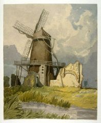 after John Sell Cotman (1782-1842) St Benet's Abbey, Norfolk, from the south-west , c.1808 Graphite and watercolour on white wove paper, 289 x 233 mm USA, San Francisco Fine Art Museums, Achenbach Foundation for Graphic Arts, 1963.24.4 Image courtesy of Achenbach Foundation for Graphic Arts. To see this image in the San Francisco Fine Art Museums own website, click on the following link, then use your browser's 'back' button to return to this page: https://art.famsf.org/john-sell-cotman/windmill-196324456