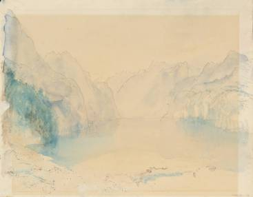J.M.W.Turner Morning on the Lake of Lucerne, 1841 [from Brunnen] Pen and ink, graphite and watercolour on paper, 228 x 292 mm Tate Britain, London, Turner Bequest TB CCCXXXII 32, Tate D33502 Photo courtesy of Tate To see this sketch on the Tate's own online catalogue click on the link below, then press your browser's 'back' button to return to this page: http://www.tate.org.uk/art/artworks/turner-morning-on-the-lake-of-lucerne-d33502