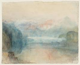J.M.W.Turner Lake Lucerne: Sample Study, 1844 Graphite and watercolour on paper, 244 x 303 mm Tate Britain, London, Turner Bequest TB CCCLXIV 338, Tate D36197 Photo courtesy of Tate To see this sketch on the Tate's own online catalogue click on the link below, then press your browser's 'back' button to return to this page: http://www.tate.org.uk/art/artworks/turner-lake-lucerne-sample-study-d36197