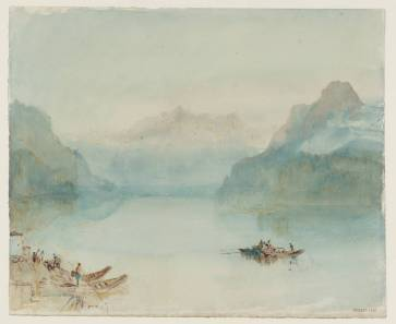 J.M.W.Turner The Bay of Uri on Lake Lucerne, from Brunnen, c.1841-2 Pen and ink, graphite and watercolour on paper, 244 x 299 mm Tate Britain, London, Turner Bequest TB CCCLXIV 342, Tate D36202 Photo courtesy of Tate To see this sketch on the Tate's own online catalogue click on the link below, then press your browser's 'back' button to return to this page: http://www.tate.org.uk/art/artworks/turner-the-bay-of-uri-on-lake-lucerne-from-brunnen-d36209