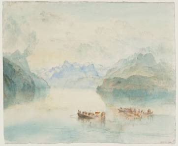 J.M.W.Turner Lake Lucerne: The Bay of Uri, from Brunnen, c.1841-2 Pen and ink, graphite and watercolour on paper, 244 x 295 mm Tate Britain, London, Turner Bequest TB CCCLXIV 348, Tate D36209 Photo courtesy of Tate To see this sketch on the Tate's own online catalogue click on the link below, then press your browser's 'back' button to return to this page: http://www.tate.org.uk/art/artworks/turner-lake-lucerne-the-bay-of-uri-from-brunnen-d36202