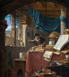 Thomas Wyck (1616 – 1677) A Scholar in his Study, c.1650 Oil on canvas, 335 x 310 mm Hallwyl Museum, Stockholm Image courtesy of Google Art project; https://www.google.com/culturalinstitute/beta/asset/a-scholar-in-his-study/jwEEffvPLpskfA?hl=en