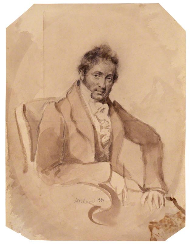 by Horatio Beevor Love, pencil and wash, 1830