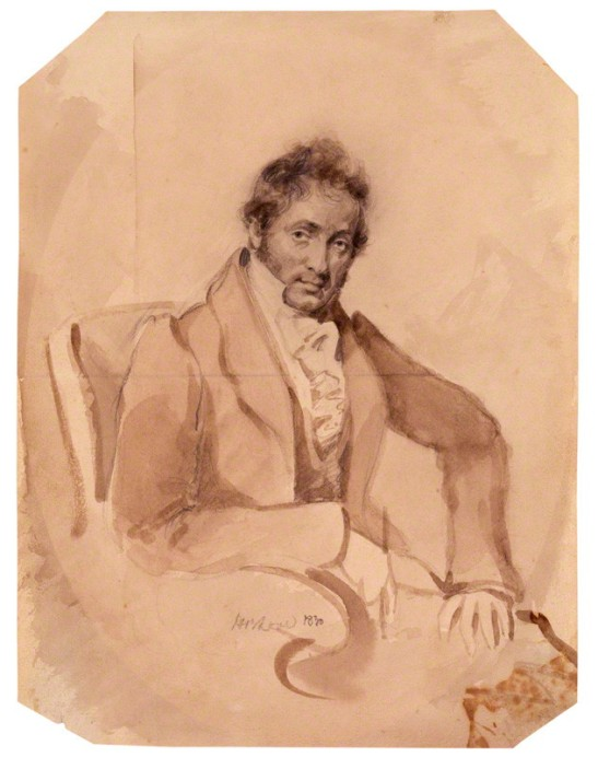 by Horatio Beevor Love, pencil and wash, 1830
