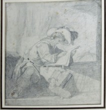 John Sell Cotman A Seated Cavalier, Writing, c.1832 Graphite on paper, 190cm x 170 mm Sold Chorley's Fine Art & Antiques, Cheltenham, including Jewellery and silver, Day 1: 24 September 2014, Lot 476 as 'A Seated Cavalier, Writing', repr colour Image from Chorley's website: http://www.chorleys.com/Catalogues/ourcatalogues.aspx?Catalogue=77&pg=search&pageOn=1&QryFld1=0&QryFld2=cotman