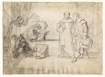 John Sell Cotman Figure composition: An artist receiving visitors in his studio, c.1833 Graphite on white, textured, wove paper, watermarked 'B E & S 1828', 257 x 347 mm Leeds City Art Gallery, Sydney Kitson Bequest, LEEAG. 1949.0009.0681 Image courtesy of Leeds Art Gallery To see this image in the Leeds online catalogue, click on the following link, and use your browser's 'back' button to return to this page: https://cotmania.org/works-of-art/44025