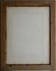 John Sell Cotman 'The Student', c.1833 Backboard removed to show verso of original mounting sheet, as bought, 2014