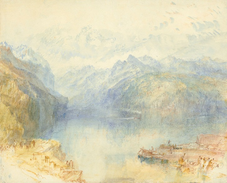 J.M.W.Turner The Lake of Lucerne from Brunnen, with a Steamer, 1841 Watercolour with slight traces of pencil, on white, wove paper, watermarked 'C. Ansell 1828' 9 ¾ x 12 1/8 in. (24.8 x 30.8 cm) Christie's, New York, 30 January 2018, lot 84, estimate: $800,000 - $1,200,000 Photo courtesy of Christie's To see this sketch on Christie's online catalogue click on the link below, then press your browser's 'back' button to return to this page: http://www.christies.com/lotfinder/Lot/joseph-mallord-william-turner-ra-london-1775-1851-6125498-details.aspx