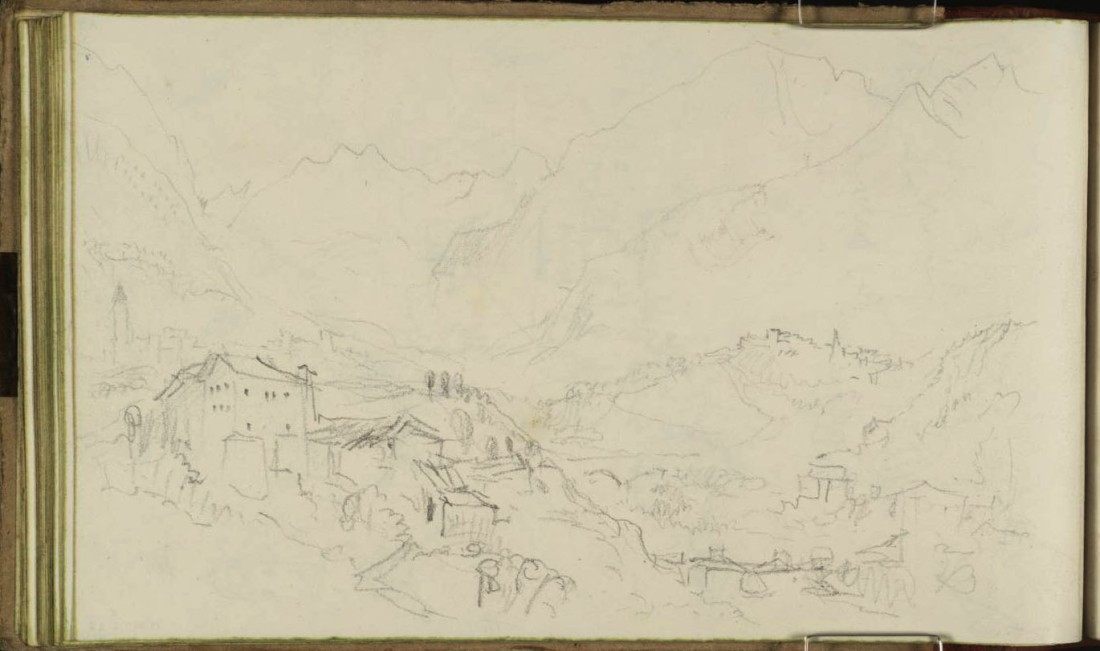 Courmayeur 1836 by Joseph Mallord William Turner 1775-1851