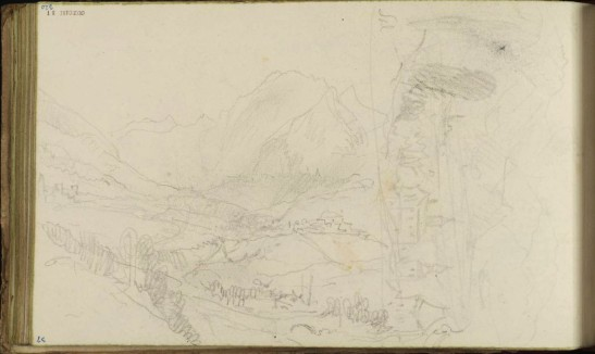 Sal. [Turner] (?Sallenches, or Salève) 1836 by Joseph Mallord William Turner 1775-1851