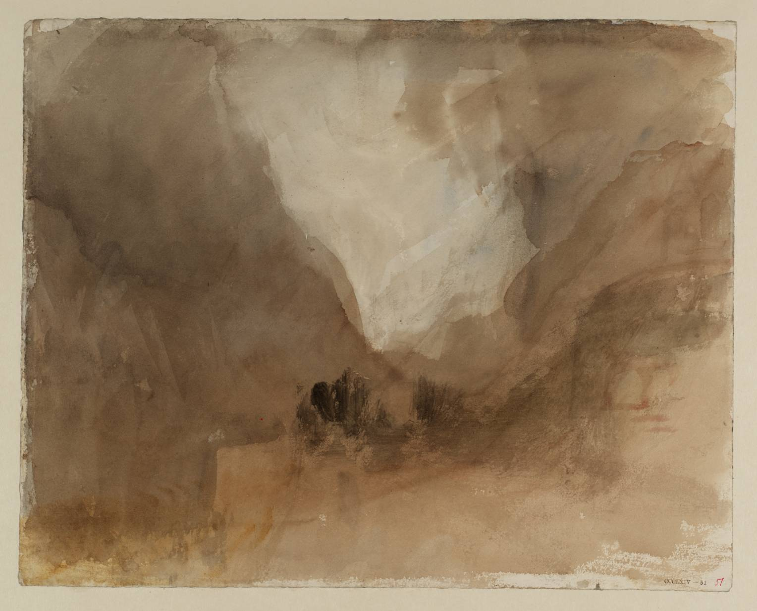 From the Church Terrace at Courmayeur, looking to Mont-Blanc 1836 by Joseph Mallord William Turner 1775-1851