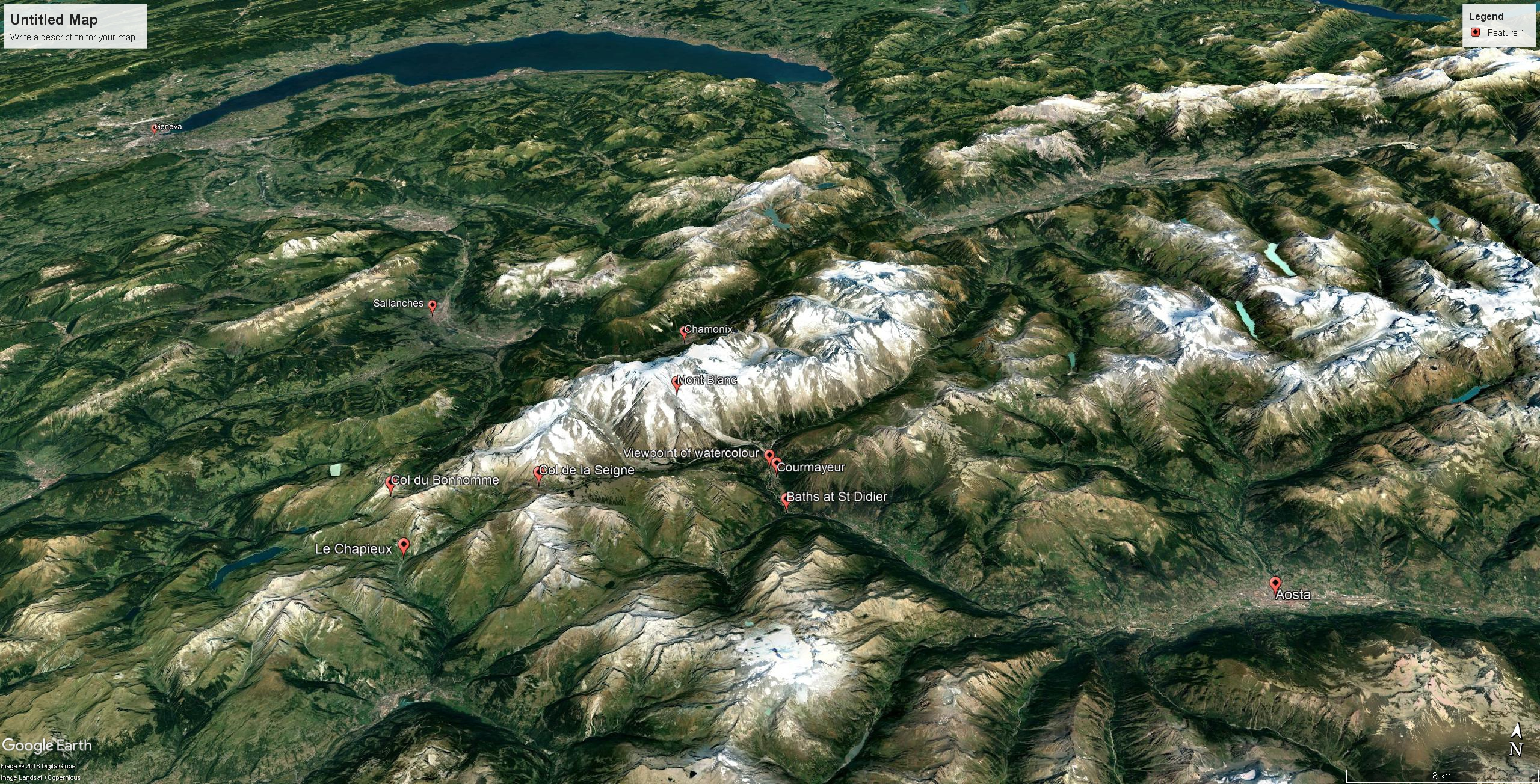 GE Route from Geneva to Aosta
