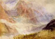 J.M.W.Turner The Brenva Glacier from Le Chetif, near Courmayeur, Val d'Aosta, 1836 Graphite and watercolour, 241 x 336 mm Edinburgh, National Gallery of Scotland, D NG 887 Image courtesy of National Gallery of Scotland. To see this image on the NGS website click on the following link and use your browser's 'back' button to return to this page; https://www.nationalgalleries.org/art-and-artists/19243/brenva-glacier-slopes-le-chetif-above-courmayeur-val-d-aosta