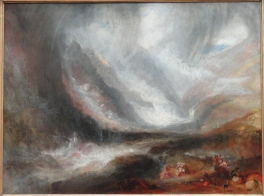 J.M.W.Turner 'Snow-storm, Avalanche and Inundation – a Scene in the Upper Part of Val d'Aouste', exh RA 1837 Oil on canvas, Art Institute of Chicago, Chicago, USA. Image source: https://upload.wikimedia.org/wikipedia/commons/a/ac/Valley_of_Aosta%2C_Snowstorm%2C_Avalanche%2C_and_Thunderstorm%2C_1836-1837%2C_by_Joseph_Mallord_William_Turner_-_Art_Institute_of_Chicago_-_DSC09550.JPG