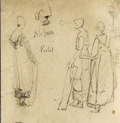 Normandy women sketch